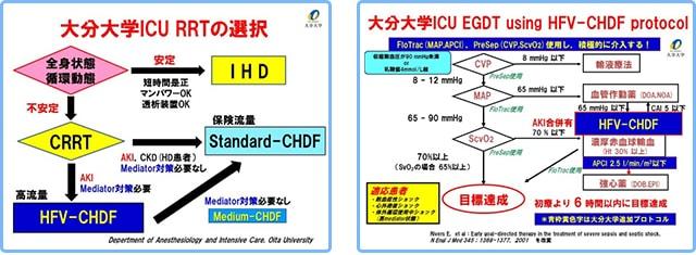 大分大学ICU RRTの選択,大分大学ICU using HFV-CHDF protocol